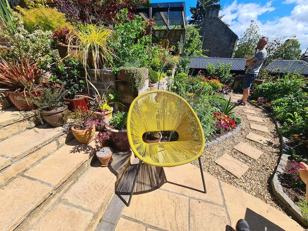 A stunning terraced garden